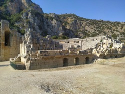 View of Myra Ancient City Theatre