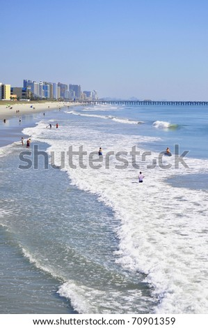 "View of Myrtle Beach South Carolina famous ""Grand Strand"""