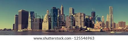 View of New York City Manhattan skyline