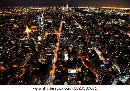 view of new york city skyline #1020307681