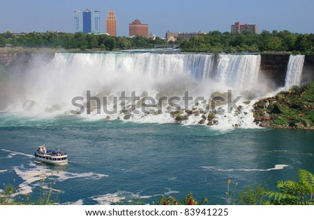 View of Niagara falls in Canada