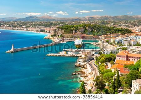 View of Nice, mediterranean resort, Cote d'Azur, France Stock photo ©