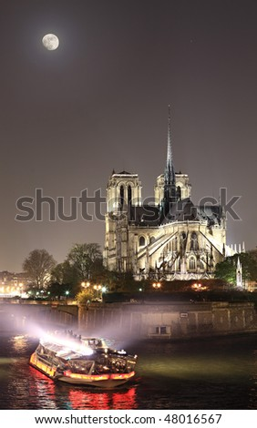 View of Notre-Dame at night