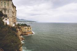 View of Oceanographic Museum of Monaco. Monte Carlo