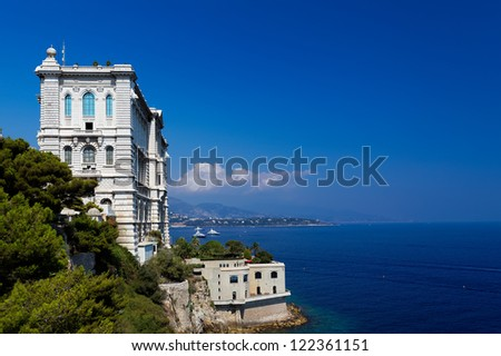 View of Oceanographic Museum of Monaco. Monte Carlo