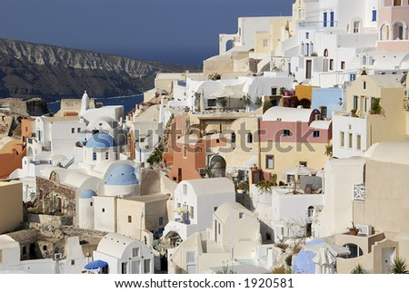 View of Oia, Greece