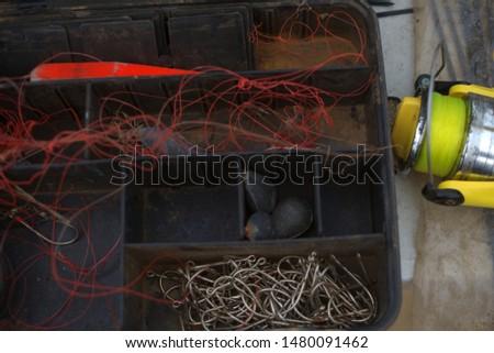 View of old fishing tackle box, Angola #1480091462