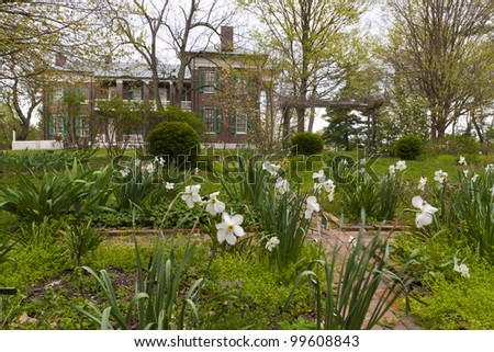 View of old park and mansion in Waveland State Historic Site . Lexington, Kentucky, USA