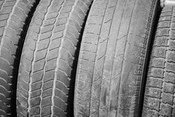 view of old tires