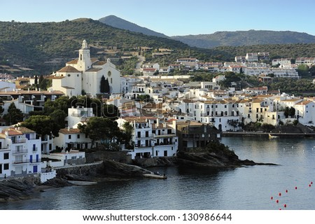 View of old town Cadaques, Catalonia, Spain