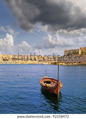 View of old Valletta, Malta, UNESCO World Heritage Site