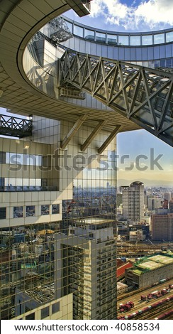 View of Osaka, Japan from Umeda Sky Building