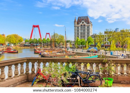View of Oude Haven in Rotterdam From A Balcony Stockfoto ©