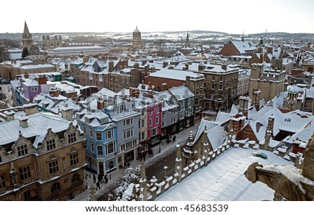 View of Oxford - stock photo