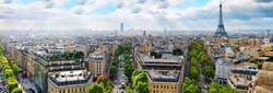 View of Paris from the Arc de Triomphe. Paris.