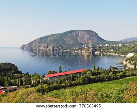 View of Partenit and Mount Ayu-Dag. Crimea