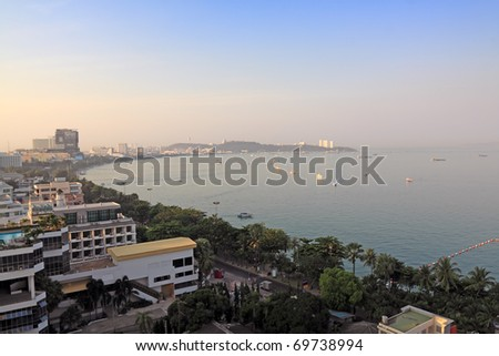 view of Pattaya city,morning