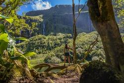 View of Poço da Ribeira do Ferreiro, In Flores Island, Azores, portugal