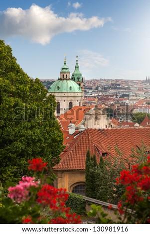 View of Prague in summer