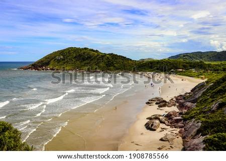 View of Praia do Farol, on Ilha do Mel, Paraná, Brazil Foto stock ©