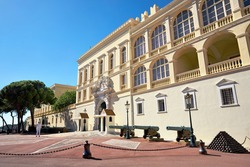 View of Prince's Palace of Monaco. Residence of the King.