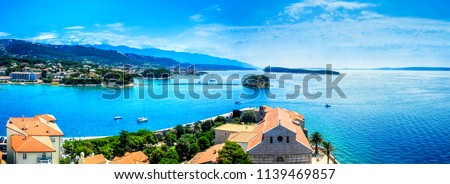 View of Rab town on Croatian island Rab from a tower of city cathedral Сток-фото ©