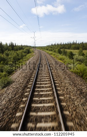 View of railway track and trees