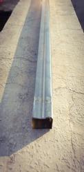 View of rectangular aluminium rod with white background .
