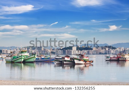 View of Rio de Janeiro with municipality Niteroi