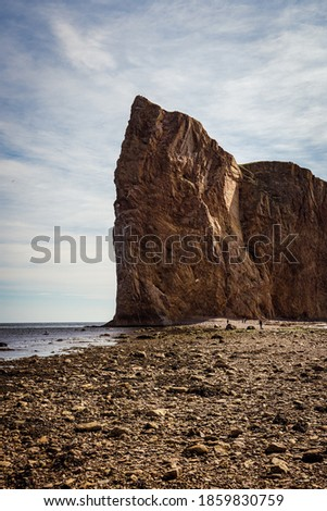 View of Rocher Perce in Quebec Photo stock ©