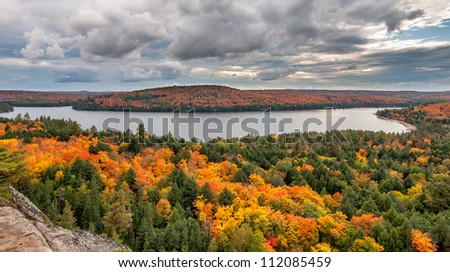 View of Rock Lake from the the Booth rock trail in Algonquin Park, Ontario, Canada.