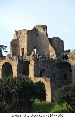 view of rome, imperial forums