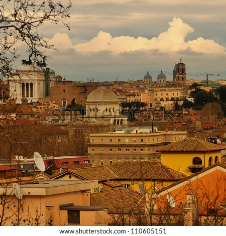 View of Rome, Italy