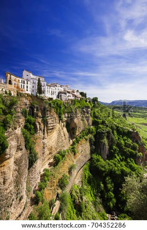 Shutterstock View of Ronda village, one of the famous white villages (Pueblos Blancos) of Andalucia, Spain