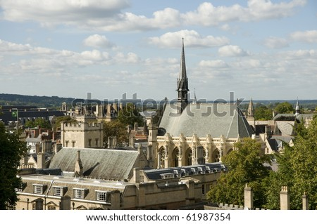 View of roof tops , Oxford