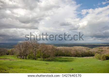 View of rural Cotswolds, Gloucestershire, England. #1427640170