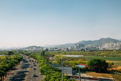 View of rural village in Korea