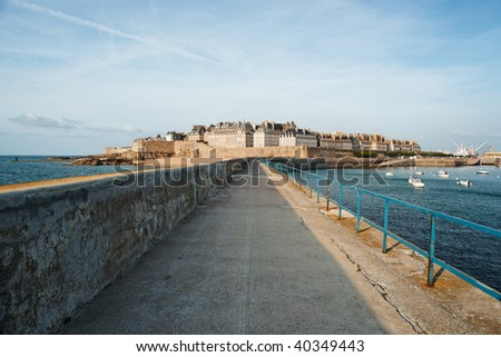 View of Saint Malo, France.