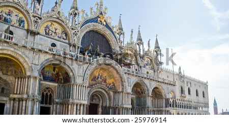 View of Saint Mark cathedral in Venice, Italy