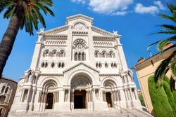 View of Saint Nicholas Cathedral in Monaco, Monte Carlo