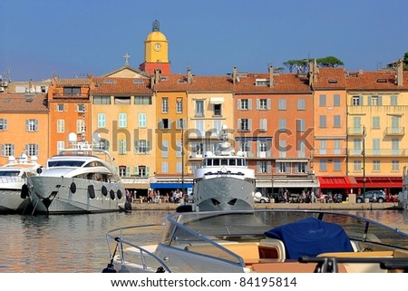 View of Saint-Tropez, south of France