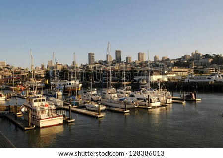 View of San Francisco from the pier 39, San Francisco, California, U.S.