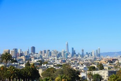 View of San Francisco's Skyline from Mission Dolores Park, United States