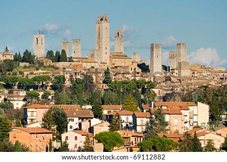 View of san gimignano, Siena, Tuscany, Italy.