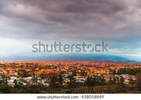 Shutterstock View of San Jose, at sunset, Costa Rica