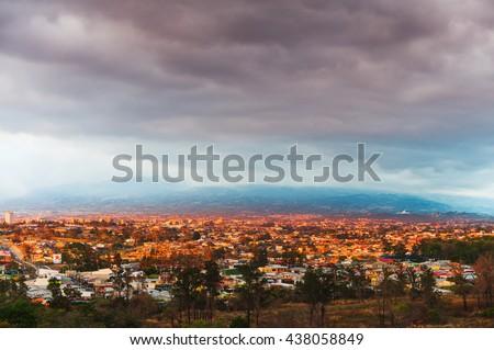 Shutterstock View of San Jose, at sunset, Costa Rica