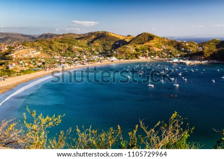 View of San Juan del Sur from the local mountain hill, Nicaragua Stockfoto ©