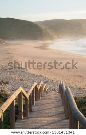 View of Sandy Amado Beach; Algarve; Portugal