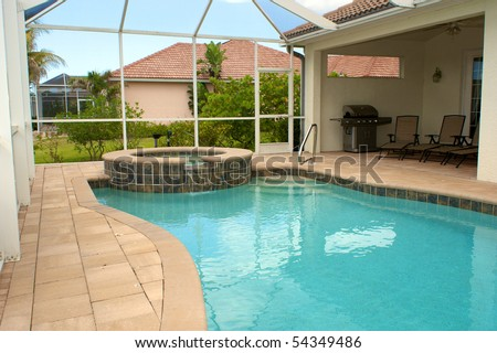 View Of Screened In Pool And Lanai Or Patio In Florida