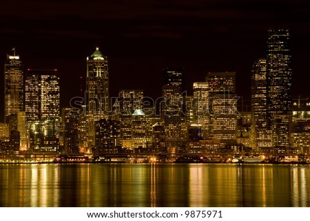 View of Seattle at night